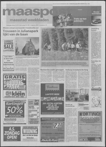 Maaspost / Maasstad / Maasstad Pers 2000-08-02