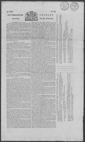 Rotterdamse Courant 1836-02-20