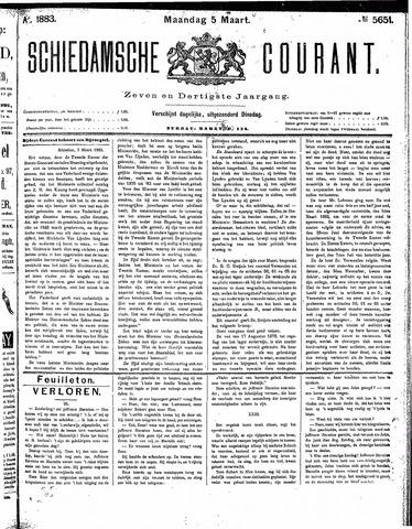 Schiedamsche Courant 1883-03-05