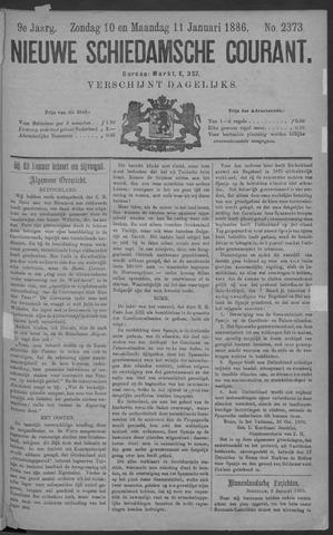 Nieuwe Schiedamsche Courant 1886-01-11