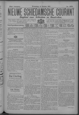 Nieuwe Schiedamsche Courant 1917-10-31