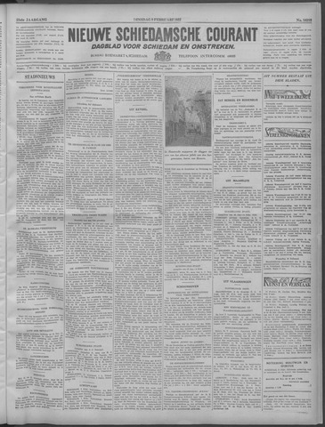 Nieuwe Schiedamsche Courant 1932-02-09