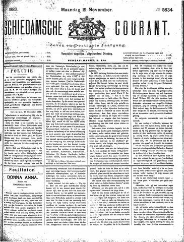 Schiedamsche Courant 1883-11-19