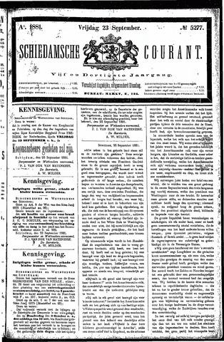 Schiedamsche Courant 1881-09-23