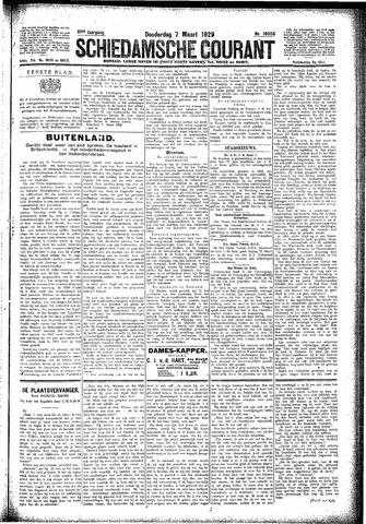 Schiedamsche Courant 1929-03-07