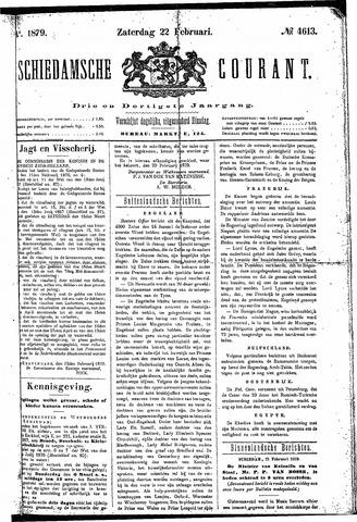 Schiedamsche Courant 1879-02-22