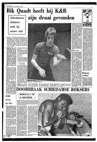 Rotterdamsch Nieuwsblad Schiedamsche Courant Rotterdams Dagblad Waterweg Algemeen Dagblad 1 Oktober 1975 Pagina 4 Gemeentearchief Schiedam Krantenkijker