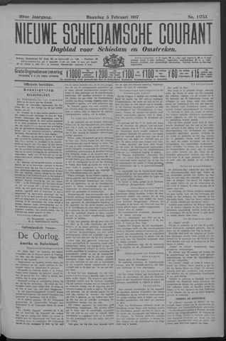 Nieuwe Schiedamsche Courant 1917-02-05