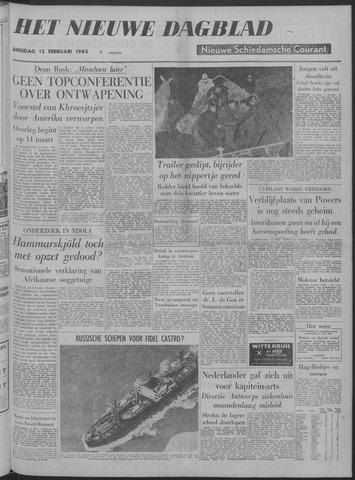 Nieuwe Schiedamsche Courant 1962-02-13