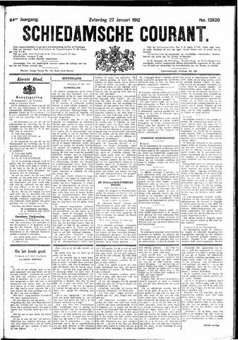 Schiedamsche Courant 1912-01-27