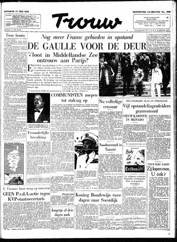 Trouw / De Rotterdammer 1958-05-27