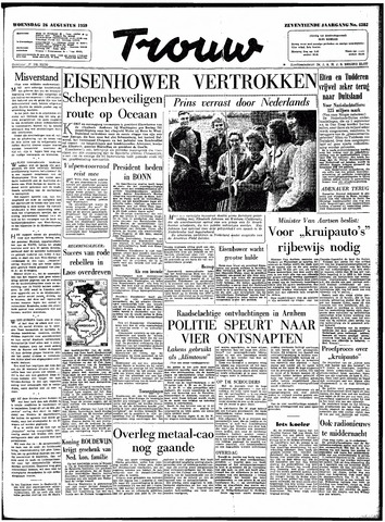 Trouw / De Rotterdammer 1959-08-26