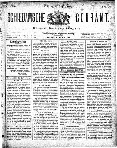 Schiedamsche Courant 1885-09-18