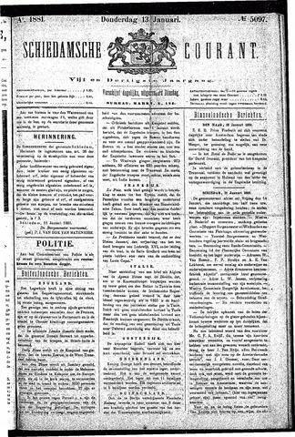 Schiedamsche Courant 1881-01-13