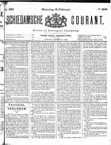 Schiedamsche Courant 1883-02-19