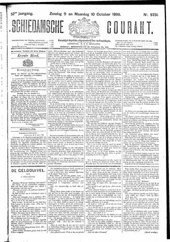 Schiedamsche Courant 1898-10-10
