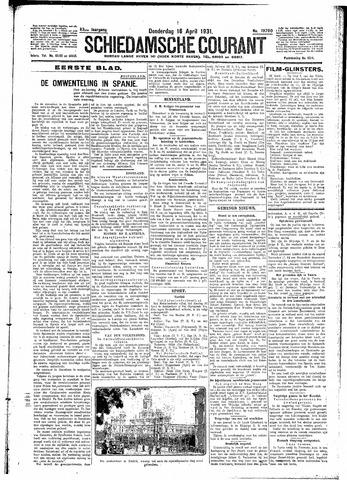 Schiedamsche Courant 1931-04-16