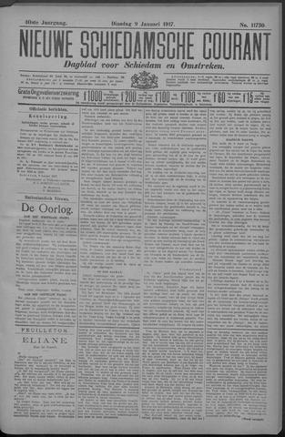 Nieuwe Schiedamsche Courant 1917-01-09