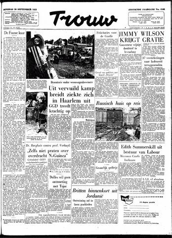 Trouw / De Rotterdammer 1958-09-30