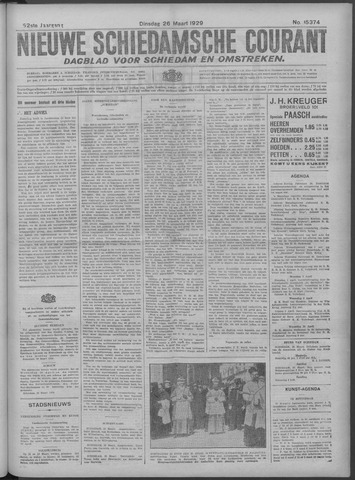 Nieuwe Schiedamsche Courant 1929-03-26