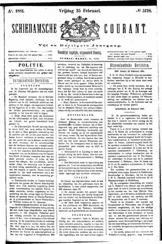 Schiedamsche Courant 1881-02-25