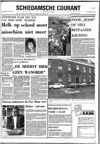 Rotterdamsch Nieuwsblad / Schiedamsche Courant / Rotterdams Dagblad / Waterweg / Algemeen Dagblad 1974-11-28