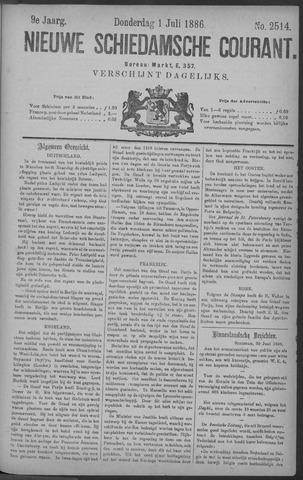 Nieuwe Schiedamsche Courant 1886-07-01