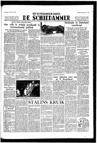 Rotterdamsch Parool / De Schiedammer 1949-02-05