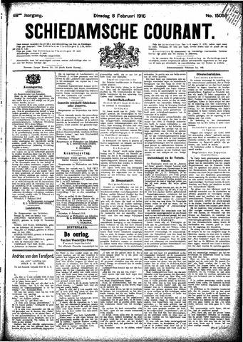 Schiedamsche Courant 1916-02-08