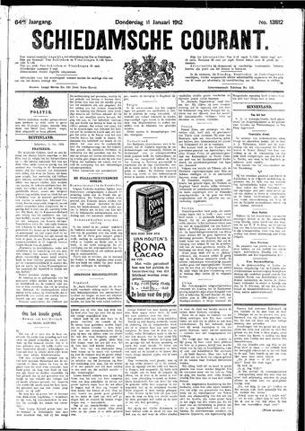 Schiedamsche Courant 1912-01-11