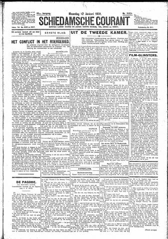 Schiedamsche Courant 1931-01-12