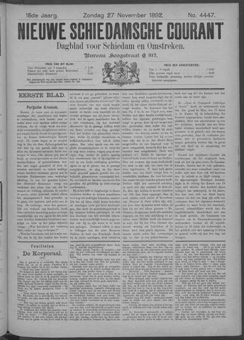 Nieuwe Schiedamsche Courant 1892-11-27