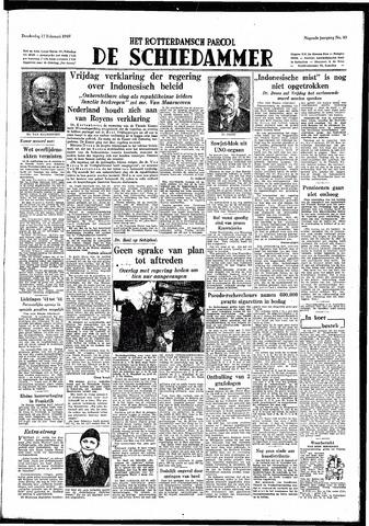 Rotterdamsch Parool / De Schiedammer 1949-02-17