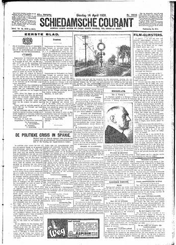 Schiedamsche Courant 1931-04-14
