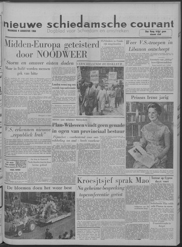 Nieuwe Schiedamsche Courant 1958-08-04