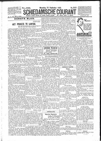 Schiedamsche Courant 1933-09-25