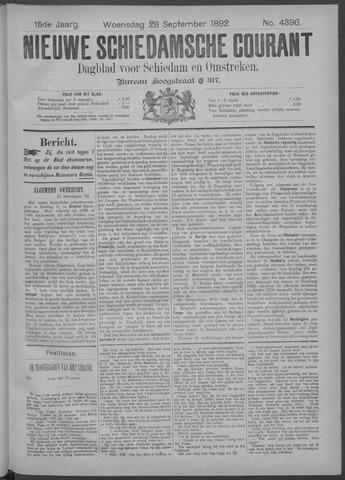 Nieuwe Schiedamsche Courant 1892-09-28