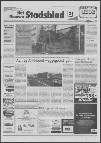Het Nieuwe Stadsblad 2000-09-14