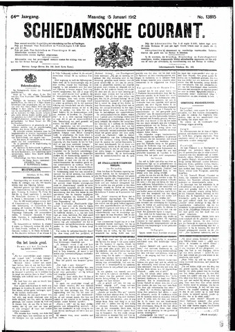 Schiedamsche Courant 1912-01-15