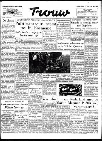 Trouw / De Rotterdammer 1958-09-12