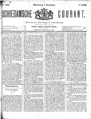 Schiedamsche Courant 1883-10-01