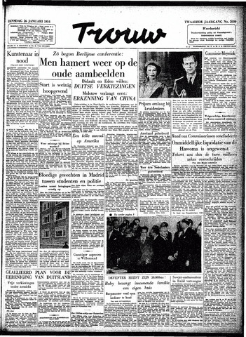 Trouw / De Rotterdammer 1954-01-26