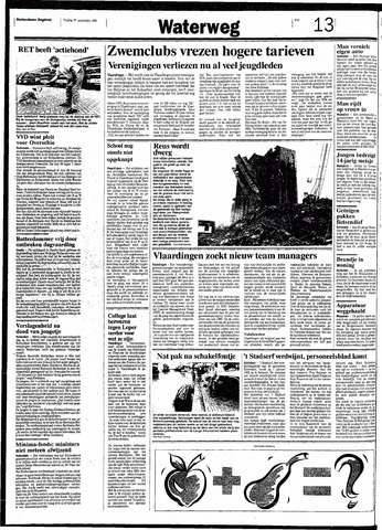 Rotterdamsch Nieuwsblad / Schiedamsche Courant / Rotterdams Dagblad / Waterweg / Algemeen Dagblad 1991-09-27