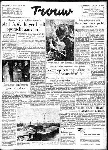 Trouw / De Rotterdammer 1956-09-22