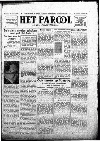 Rotterdamsch Parool / De Schiedammer 1945-10-10