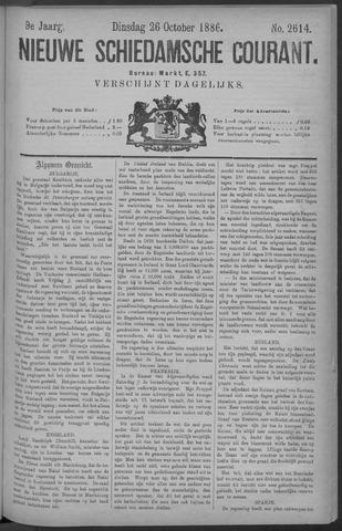 Nieuwe Schiedamsche Courant 1886-10-26