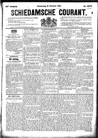 Schiedamsche Courant 1916-10-19