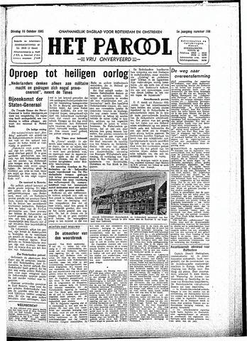 Rotterdamsch Parool / De Schiedammer 1945-10-16