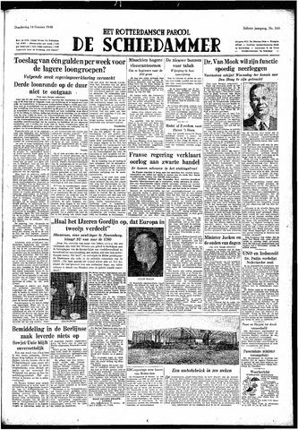 Rotterdamsch Parool / De Schiedammer 1948-10-14