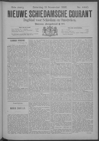 Nieuwe Schiedamsche Courant 1892-11-19